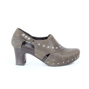 Dansko Clogs Ryder Women Leather Shoes Moto Bootie